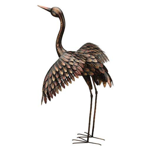 Creekwood Bronze Winged Crane Wings Up