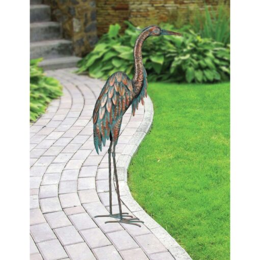 Creekwood Patina Heron Statue