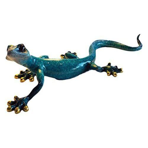 Large Gecko Speckled Blue