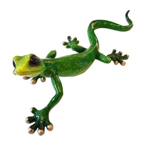 Large Gecko Speckled Green