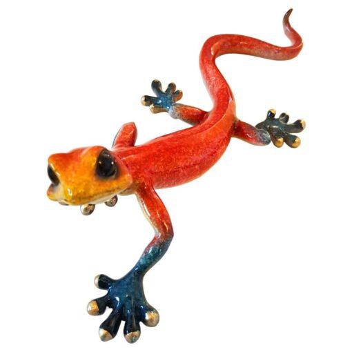 Large Gecko Speckled Red