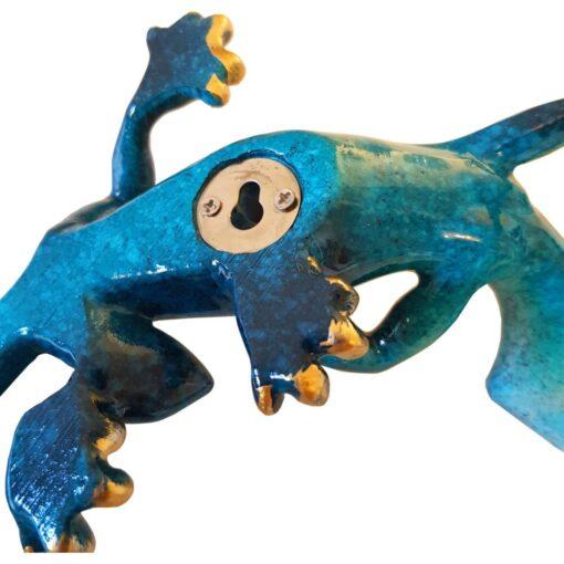 Medium Gecko Speckled Blue