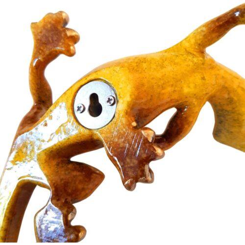 Medium Gecko Speckled Yellow