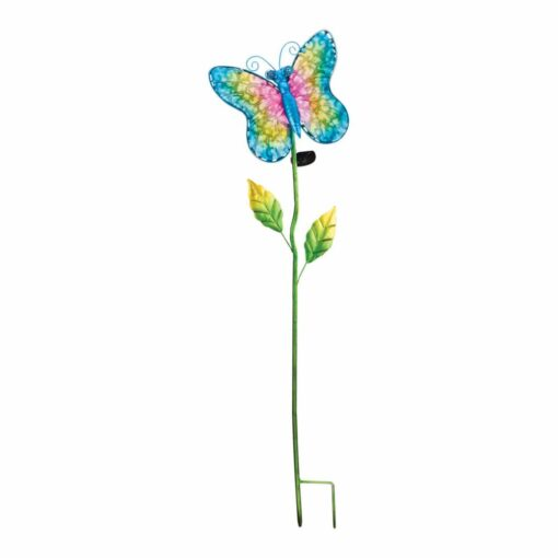 Creekwood Solar Filigree Stake - Butterfly