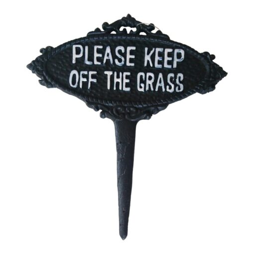 Please Keep Off The Grass Sign by Garden Ornaments & Accessories