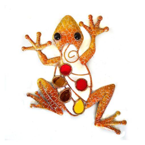 Orange Glitter Frog Wall Art Small