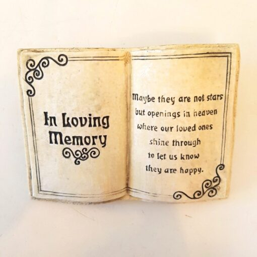 Book In Loving Memory Plaque - Maybe They Are Not Stars..