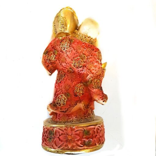 Lucky Laughing Buddha Carrying Wealth Ornament