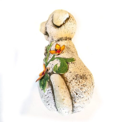 Resin Dog Garden Ornament Decorated with Jewels