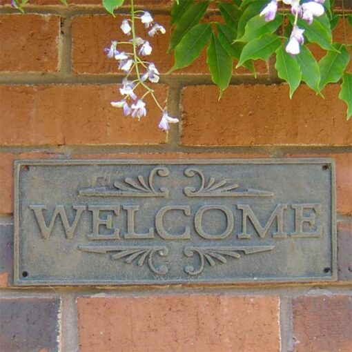 Rustic Welcome Cast Iron Sign