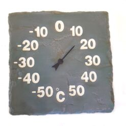 Slate Effect Thermometer Grey