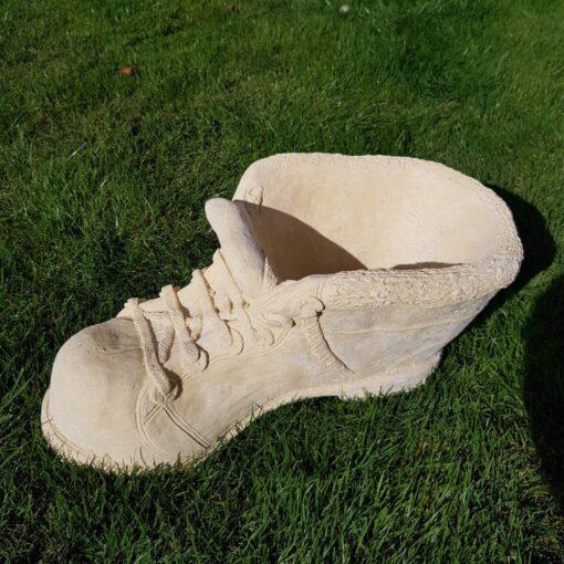 Cream Small Boot Garden Ornament