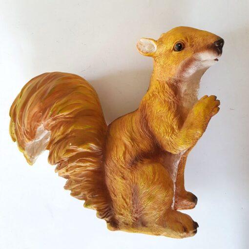 Sitting Red Squirrel Garden Ornament