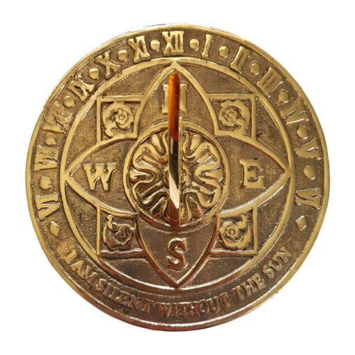 Solid Brass Tudor Rose Sundial