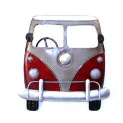 Retro Camper Van Wall Art Red