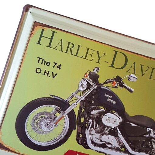 Vintage Harley Davidson - Hydra-Glide Metal Wall Plaque Sign 30 x 40 cm