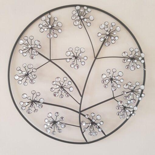 Diamante Circle Flowers