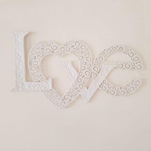 Cream Wall Hanging Love Sign