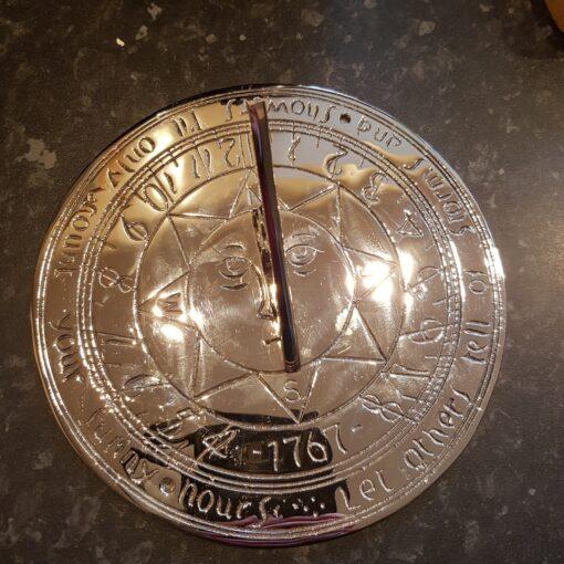 Compass Point 195mm Chrome Plated Brass Sundial