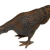 Cast Iron Realistic Hen In a Rustic Finish