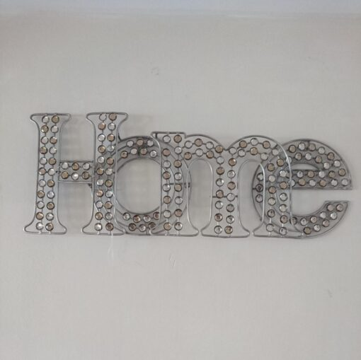 Diamante Sparkle Champagne Home Wall Art With Jewels Boxed 46 x 18 x 4.5 cm Quality Decoration