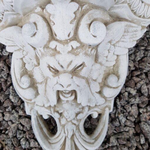 Concrete Lions Head Wall Plinth