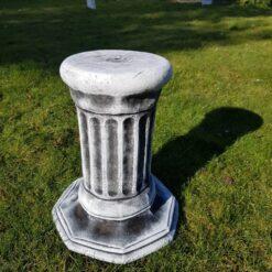 Concrete Octagonal Plinth Black & White