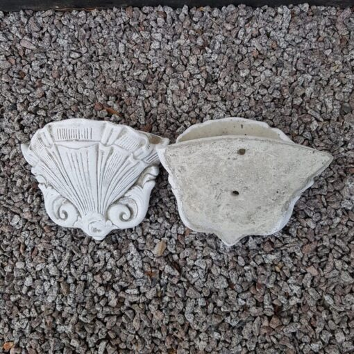Concrete Pair of Shell Planters