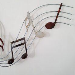 Playful Music Notes Metal Wall Art