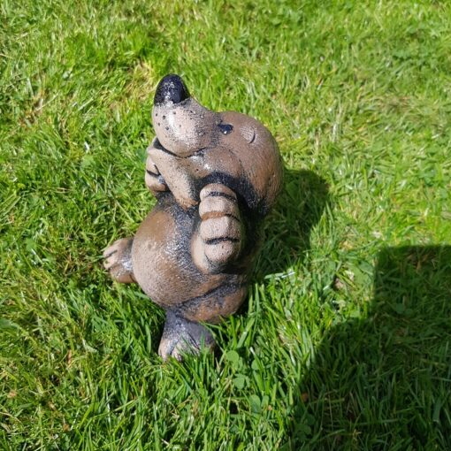 Concrete Mole Garden Ornament - Brown