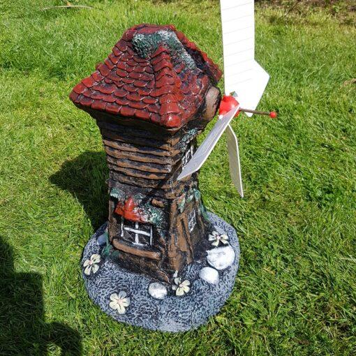 Classic House Windmill Concrete Garden Ornament