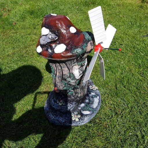 Mystical Mushroom Windmill Concrete Garden Ornament