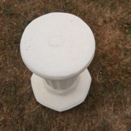 Concrete Octagonal Plinth Cream