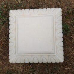 Concrete Square Small Plinth In Cream