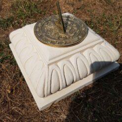 Concrete Octagonal Plinth Cream With Square Sundial