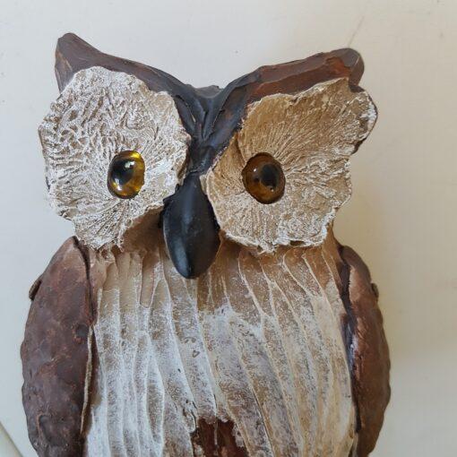 Resin Coloured Osmond Owl Ornament Medium