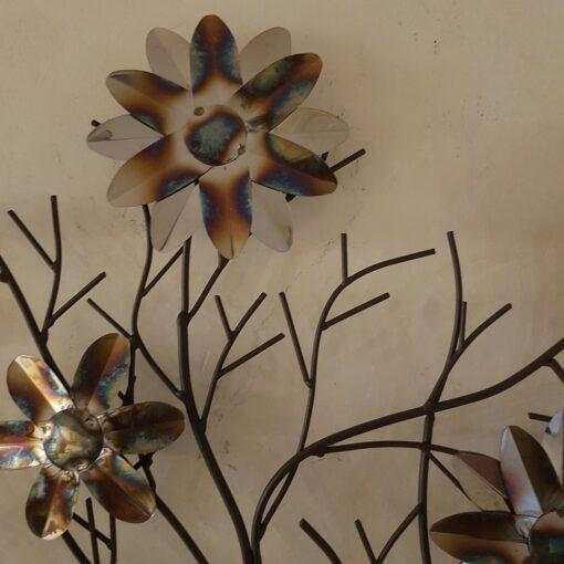 Wall Art Metal Wall Art - Camelia Winter Tree Scene