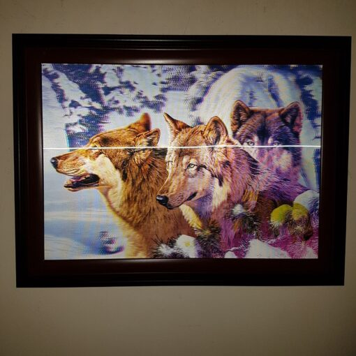 Wall Art Picture - 3D Wolves