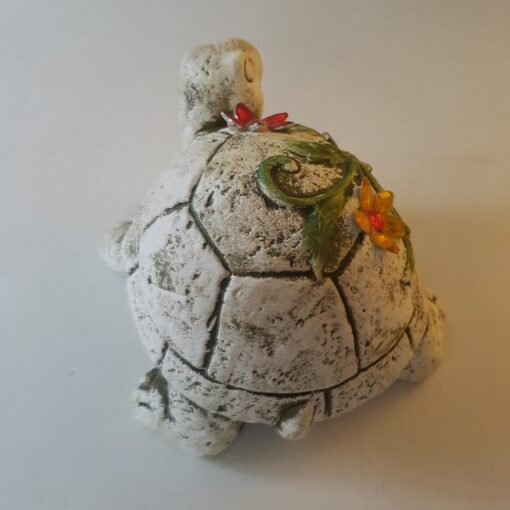 Tortoise Garden Ornament Decorated with Jewels