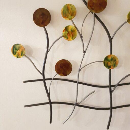 Autumn Dotty Tree Scene Wall Art