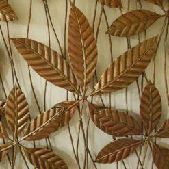Chestnut Circle Brown Metal Wall Art