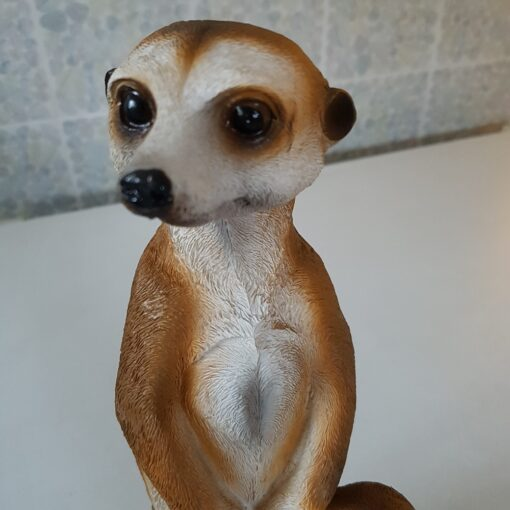 Resin Coloured Meerkats Pair Mother And Child