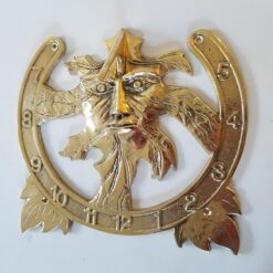 Wall Mounted Extra Large Green Man Brass Sundial