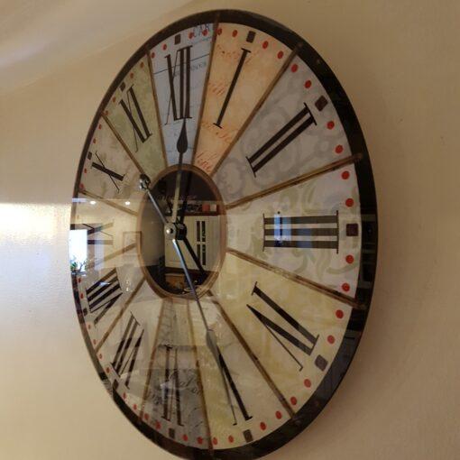 Hometime Glass Wall Clock - 'Danby' 57cm