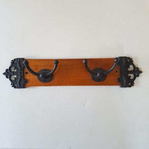Coat Hooks On Wooden Plaque