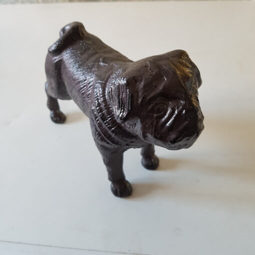 Cast Iron Pug Dog Door Stop