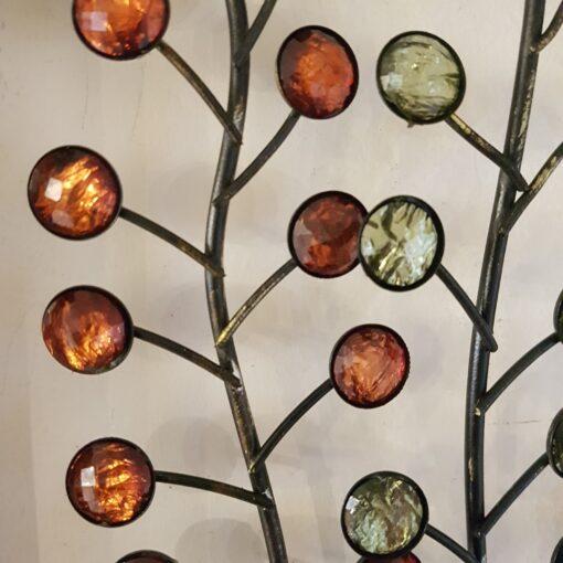 Flowers In Jar Living Metal Wall Art