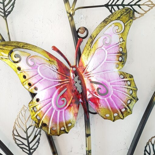 Widdop Wall Decoration Butterflies And Flowers
