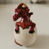 Resin Small Red Dragon Hatching From Egg