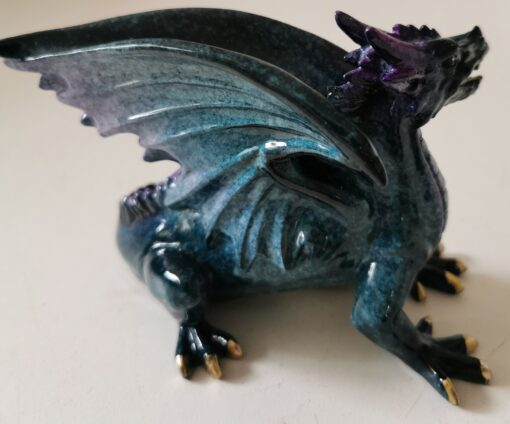 Resin Small Red Standing Dragon